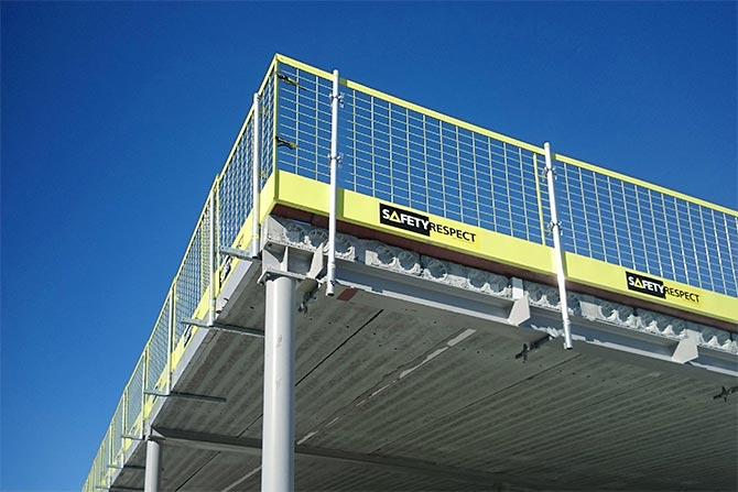 Fallskydd stålbalk stålpelare
